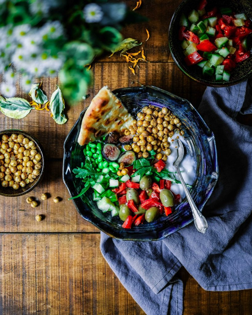 Miw of foods in a bowl